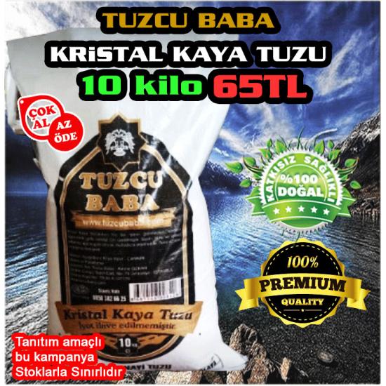 10kg SOFRALIK İNCE Çankırı Kristal Kaya Tuzu 84 mineralli