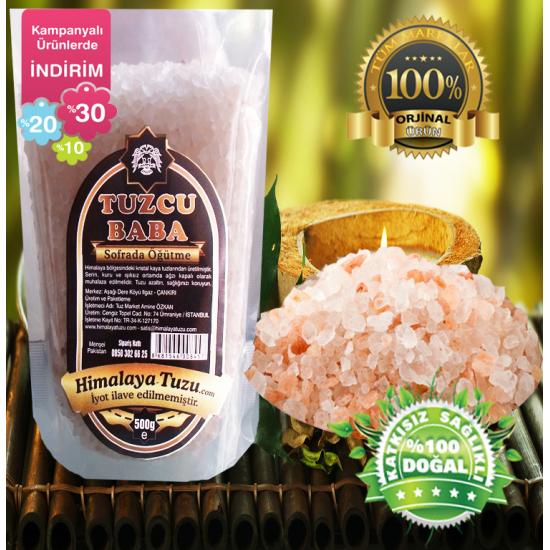 Pembe Granül Himalaya Tuzu 84 mineralli  1kg (500gr X 2 paket)