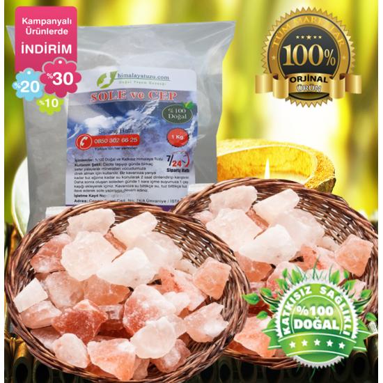 Pembe Sole ve cep için Himalaya Tuzu  84 mineralli  1kg